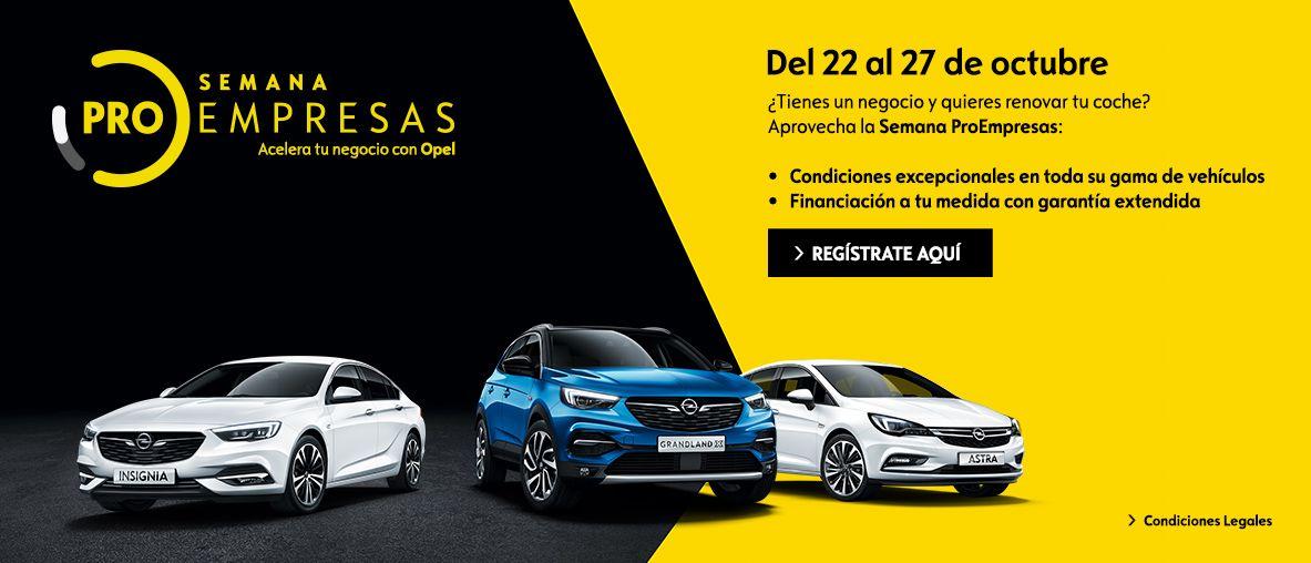 Pro Empresas Turismos , condiciones excepcionales en toda la gama Opel