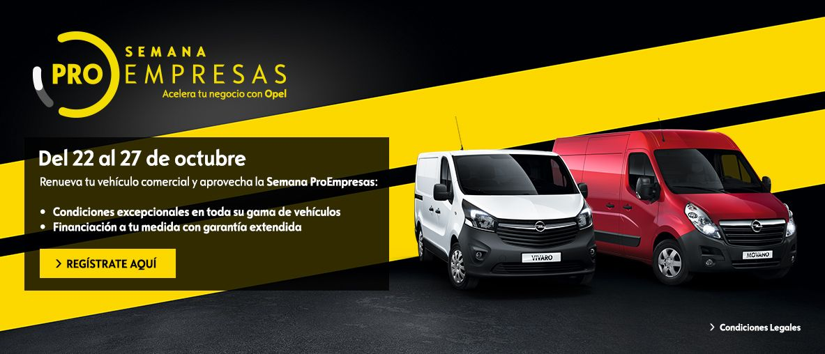 Pro Empresas Comerciales, condiciones excepcionales en toda la gama Opel
