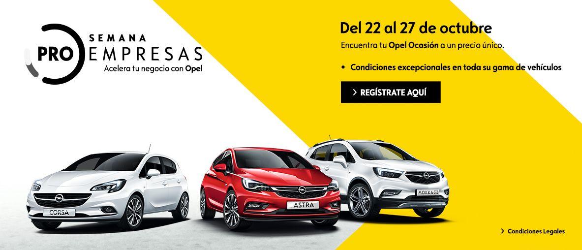 Pro Empresas Ocasión, condiciones excepcionales en toda la gama Opel