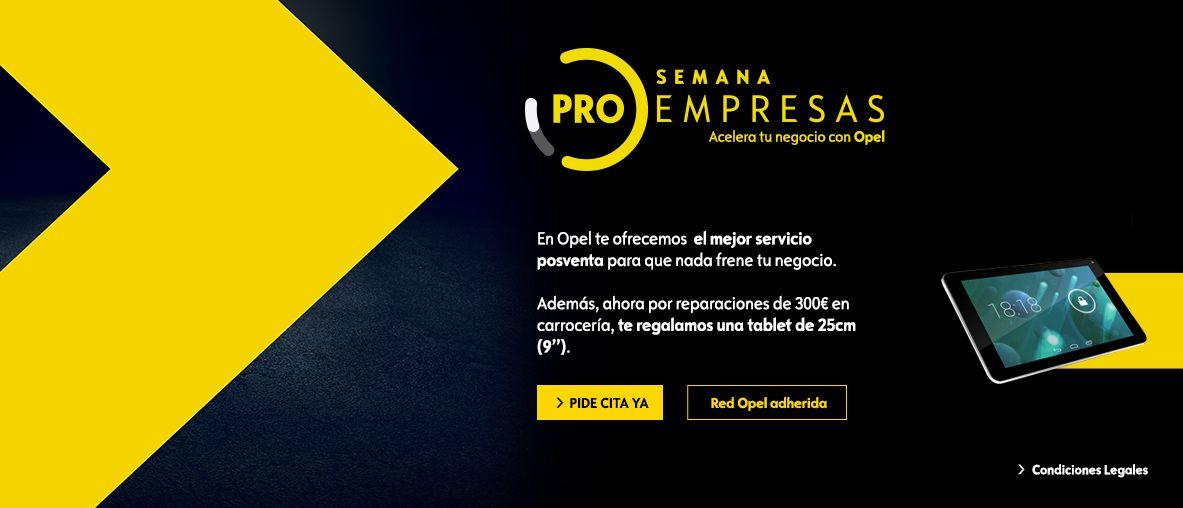 Pro Empresas Posventa, condiciones excepcionales en toda la gama Opel
