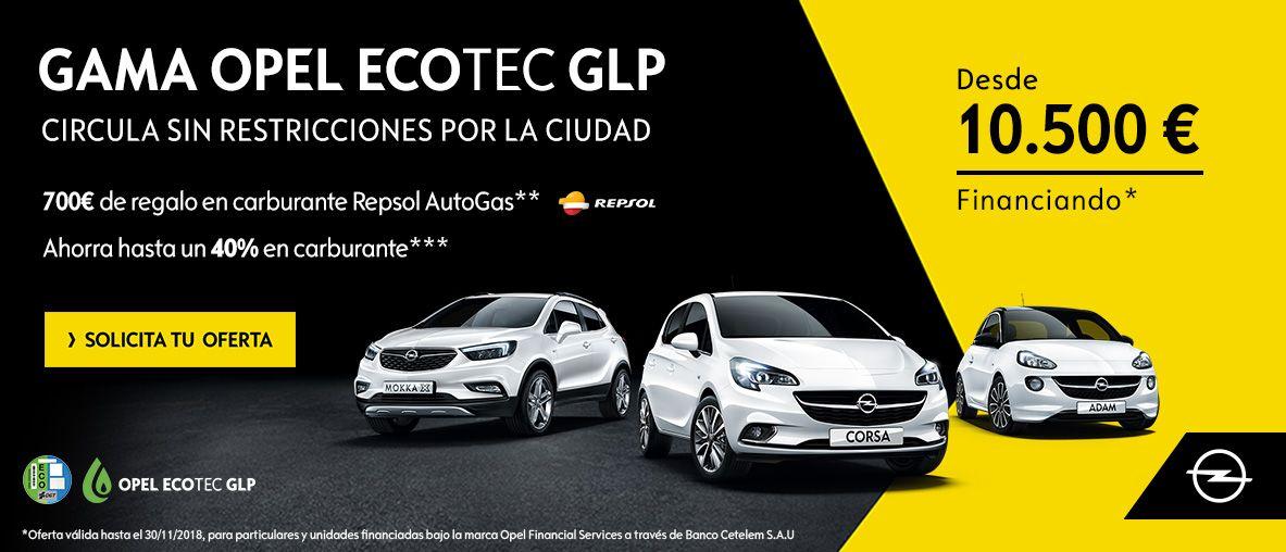 Gama Opel Ecotec GLP, 700€ de regalo en carburante Repsol AutoGas