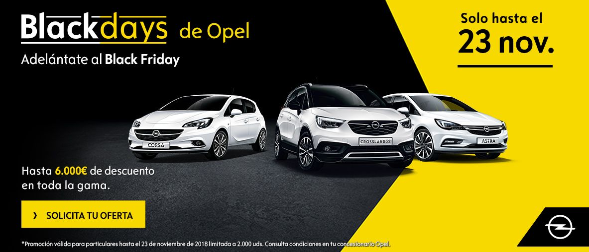 Black Days de Opel, adelántate al Black Friday