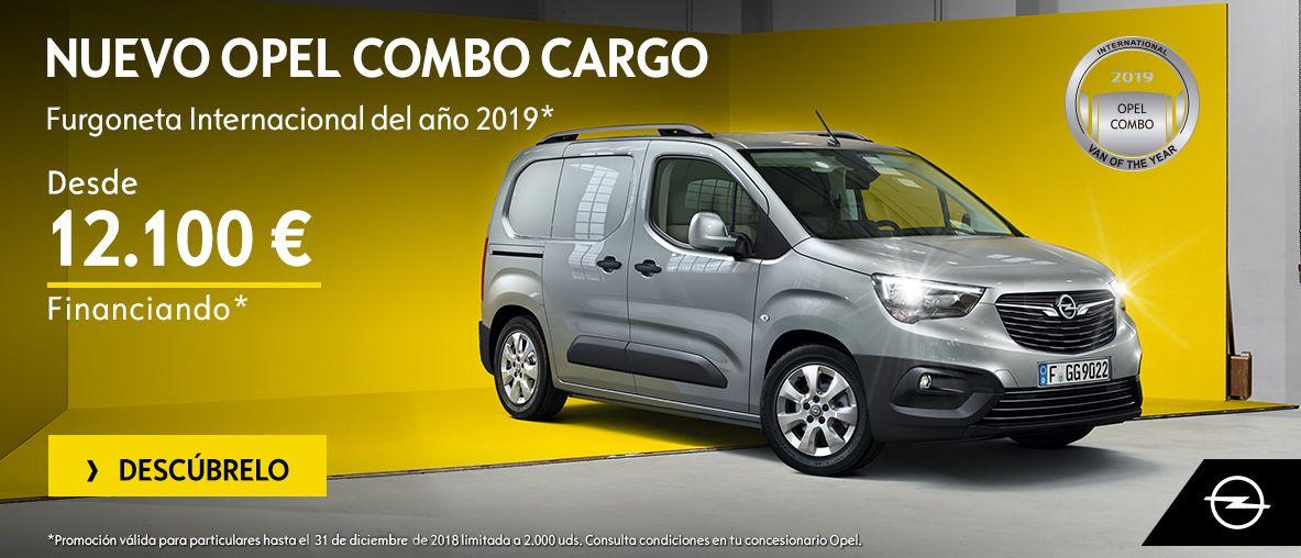 Nuevo Opel Combo Cargo desde 12.100 financiado.