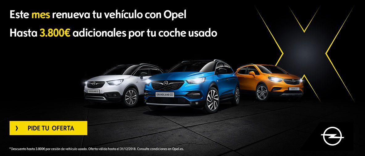 Renueva tu vehículo con Opel Gama SUV.