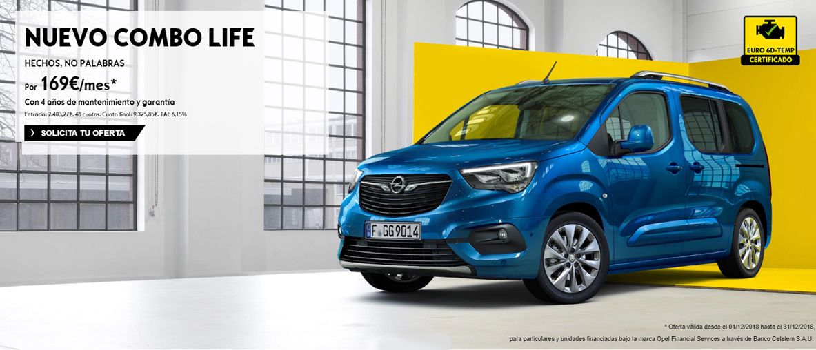 Nuevo Opel Combo Life, hechos, no palabras .
