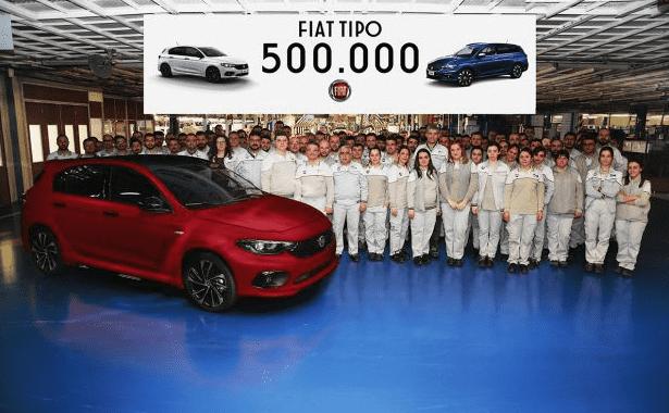 Fiat Tipo alcanza el hito de las 500.000 unidades
