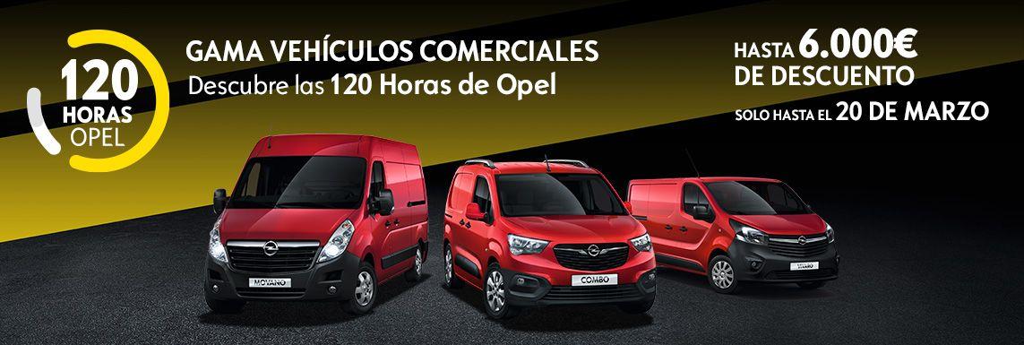[Opel] VEHÍCULOS COMERCIALES 120 HORAS Header