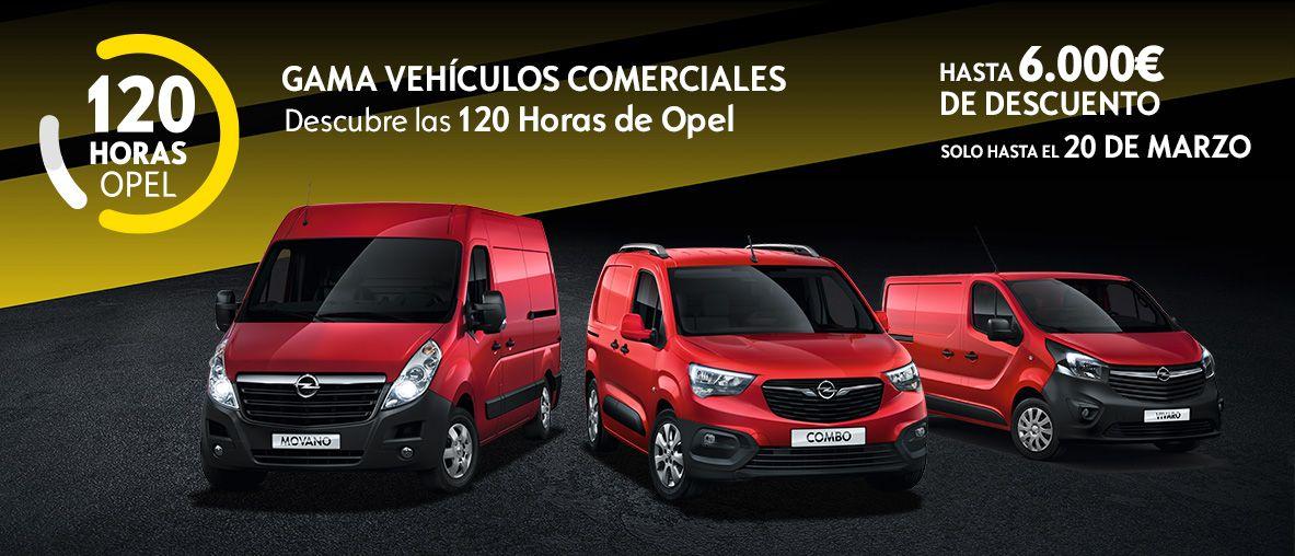 120 horas de Opel Vehículos Comerciales, hasta 6.000€ de descuento, 120 Aniversario.