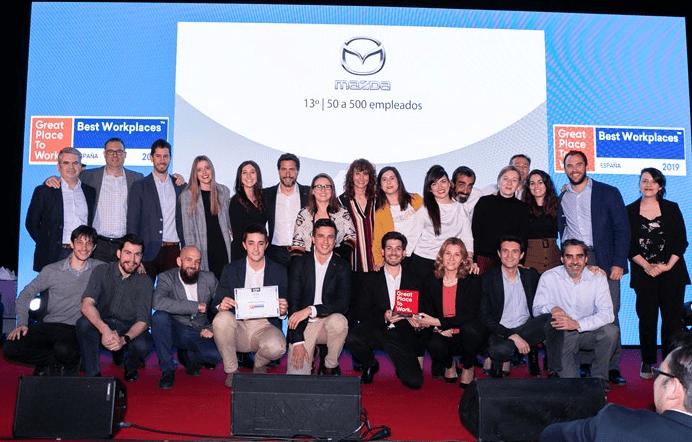 Mazda Automóviles España, premiada como mejor empresa de automoción para trabajar