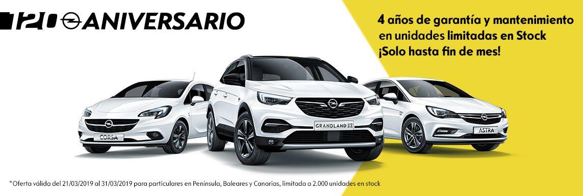 Liquidación de Stock Opel marzo, 4 años de garantía y mantenimiento.
