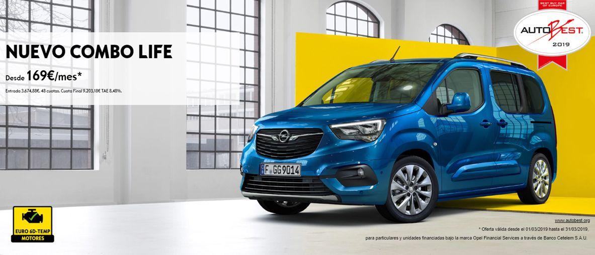 Nuevo Opel Combo Life por 169€ al mes.