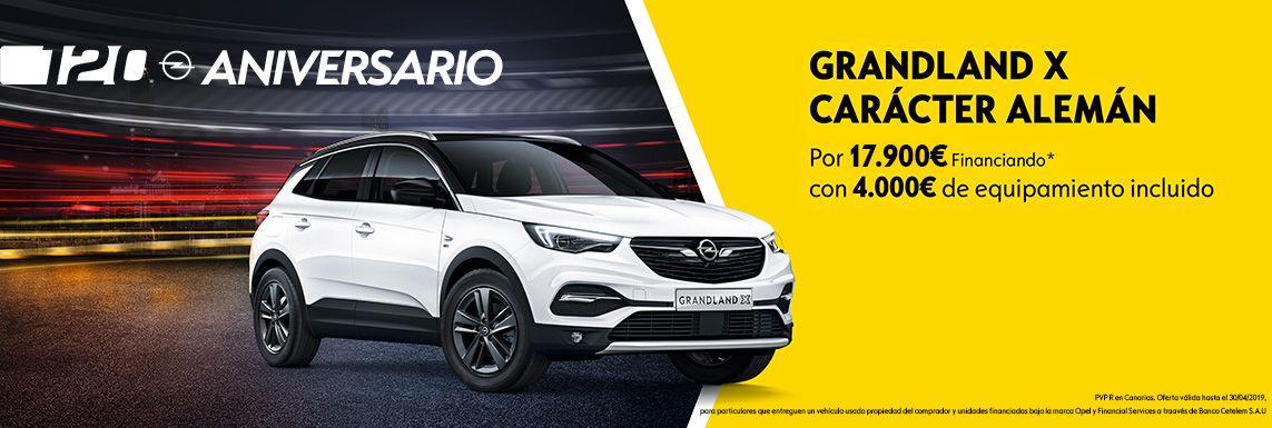 [Opel] NUEVO OPEL GRANDLAND X 120 ANIVERSARIO Header