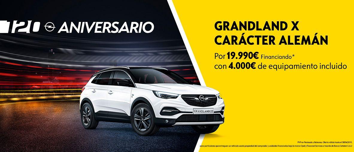 Nuevo Grandland X 120 Aniversario por 19.990€ financiando* con 4.000€ de equipamiento.