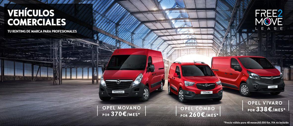 Gama Opel Vehículos Comerciales desde 260€/mes.