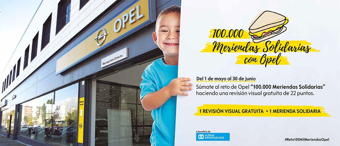 100.000 meriendas gratuitas con Opel haciendo una revisión visual gratuita de 22 puntos .