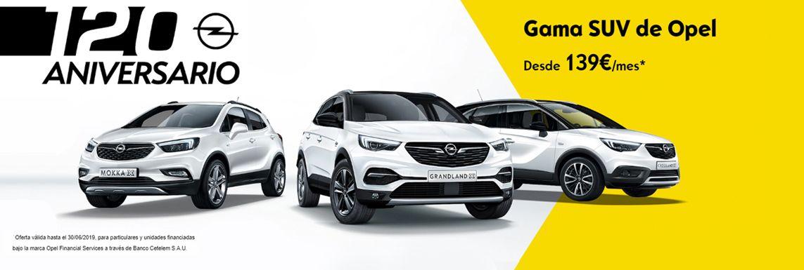 [Opel] GAMA SUV 120 ANIVERSARIO Header