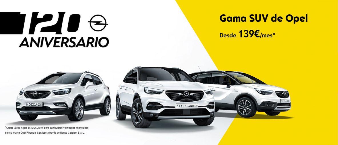 Gama SUV de Opel 139€/mes .