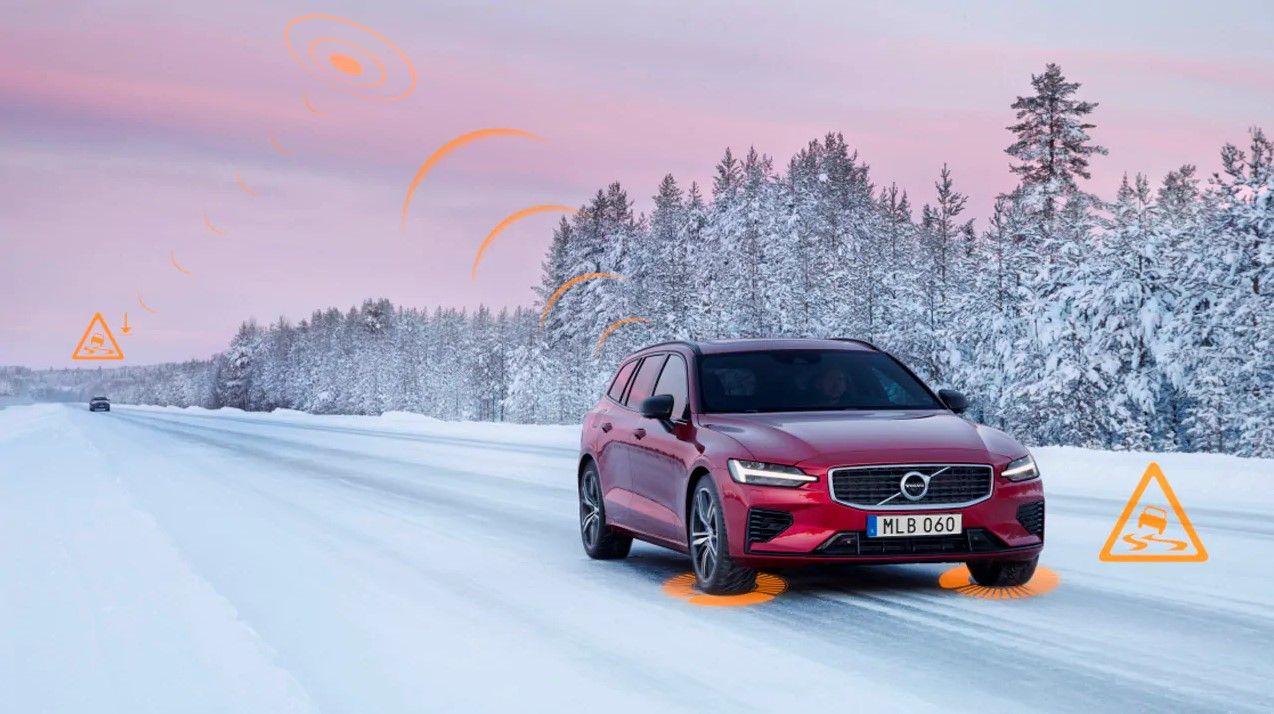 Los vehículos Volvo se avisarán entre sí de la presencia de firmes deslizantes y otros peligros en toda Europa