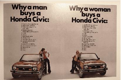 Igualdad de género, también a través de la publicidad de Honda