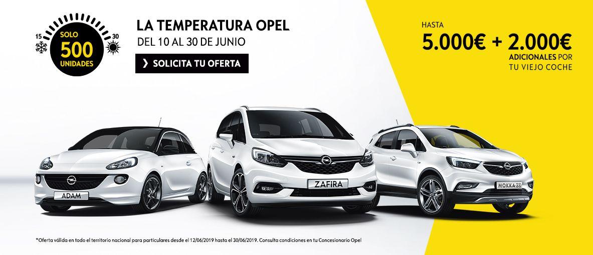 Sube la temperatura en Opel , hasta 5.000€ + 2.000€ adicionales por tu viejo coche