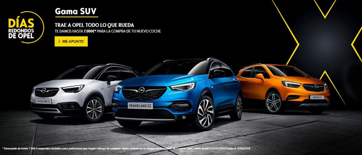 Gama SUV de Opel . Tráenos todo lo que rueda y te damos hasta 7.000€ para la compra de nuevo coche .