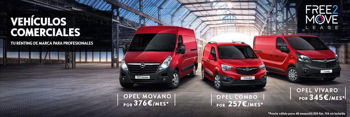 [Opel] GAMA VEHÍCULOS COMERCIALES Header