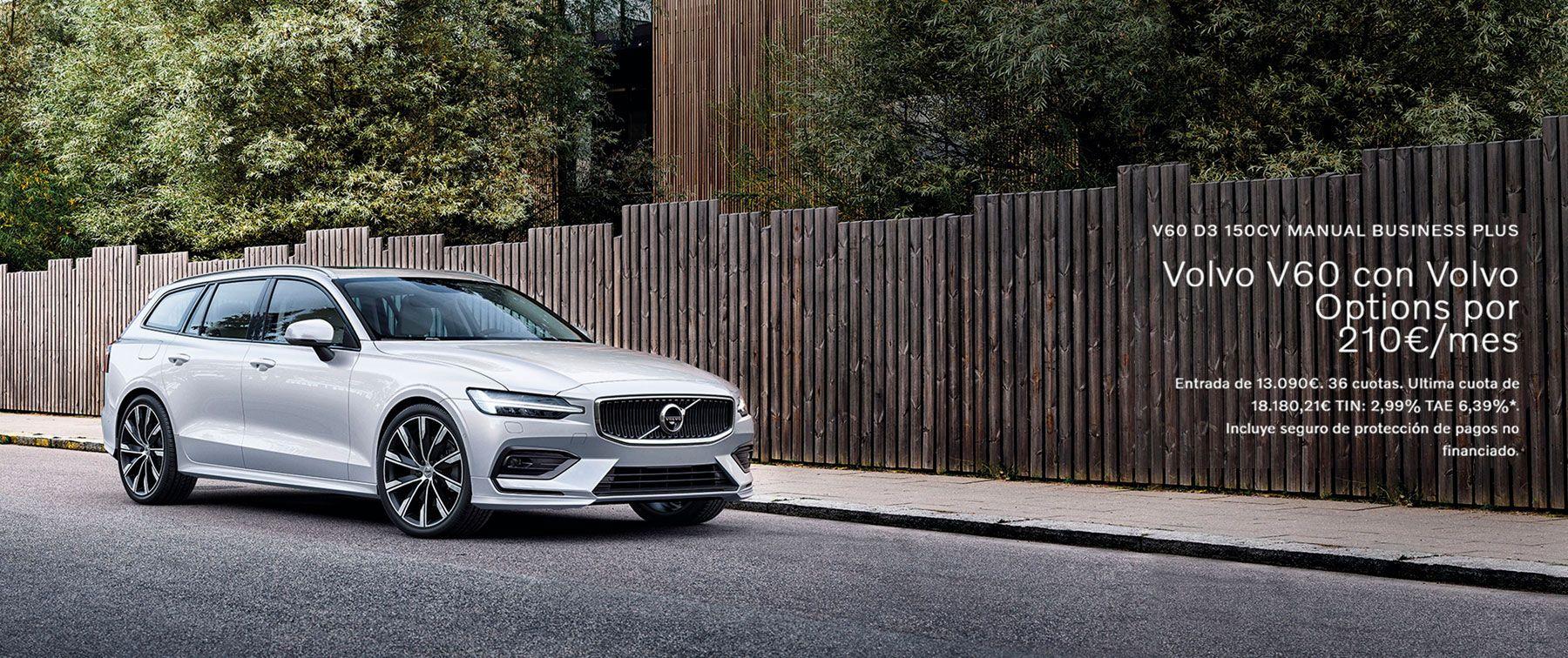 Volvo V60 con Volvo Options por 210€/mes