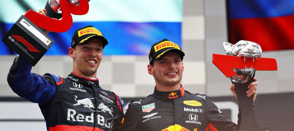 Doble podio para Honda en el GP de F1 en Alemania con victoria de Verstappen y tercero de Kvyat
