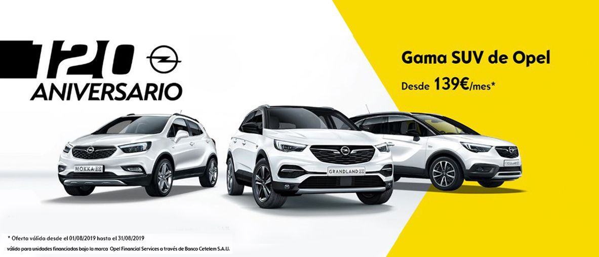 Opel Gama SUV, desde 139€/mes con 4 años de mantenimiento y garantía .