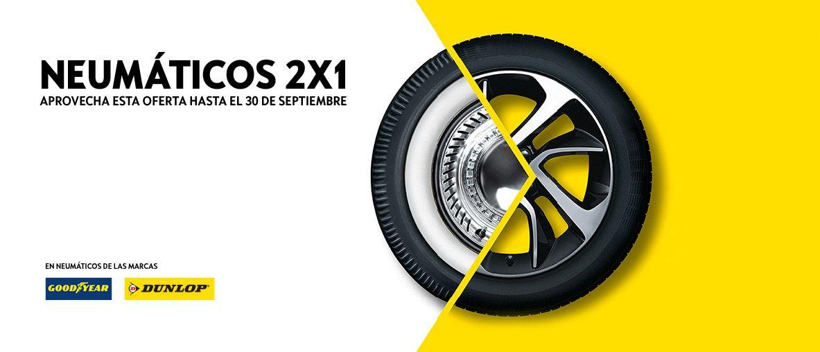 Del 2 de septiembre al 30 de septiembre, aprovecha la oferta 2x1 en neumáticos Bridgestone y Pirelli ..