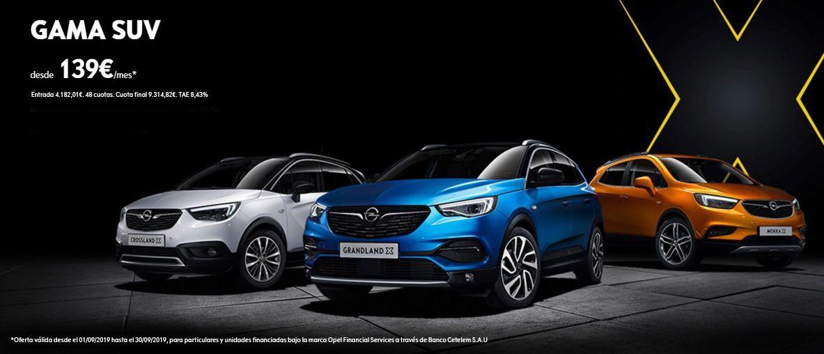 Opel Gama SUV, desde 139€/mes.