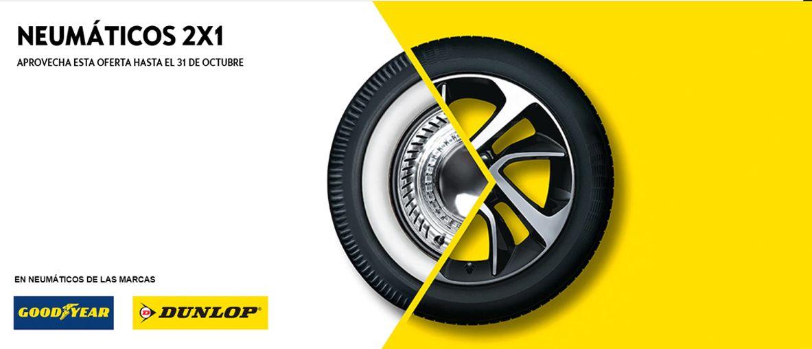 2x1 en neumáticos Bridgestone y Pirell, aprovecha esta oferta hasta el 31 de octubre .