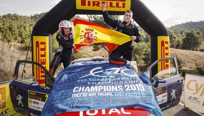 Efrén Llarena y Sara Fernández se proclaman Bicampeones de Europa con la Peugeot Rally Academy