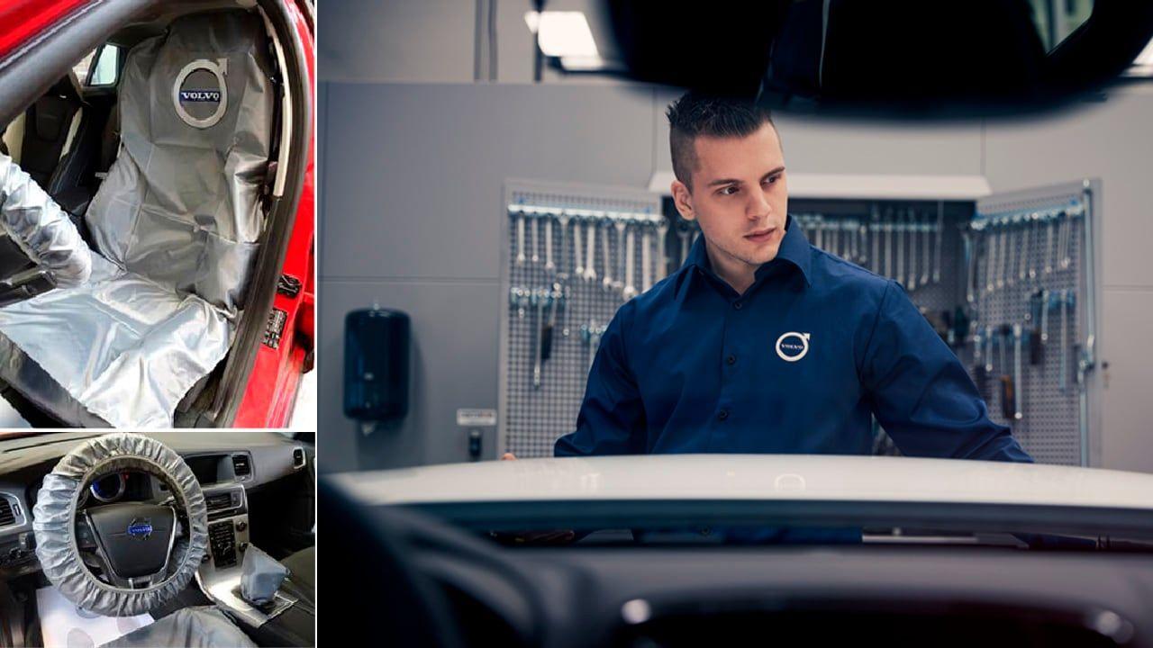 Proyecto de reducción de plástico en la red de talleres Volvo cada año