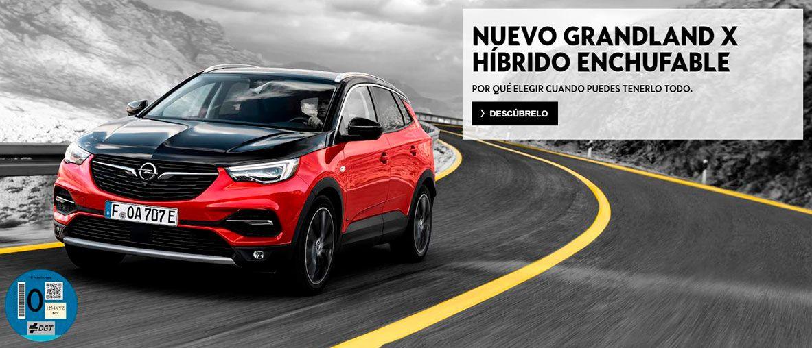 Grandland X híbrido enchufable, el nuevo SUV híbrido enchufable de Opel .