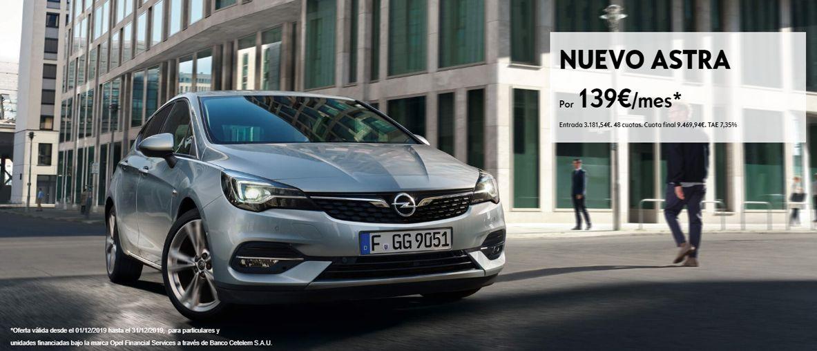 Plan Pive de Opel, Opel Astra por 139€/mes .