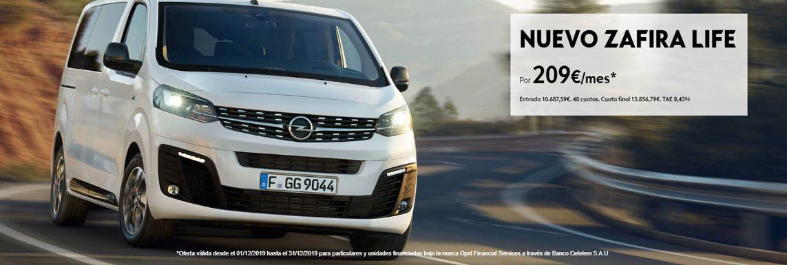 [Opel] Nuevo Zafira Life Header