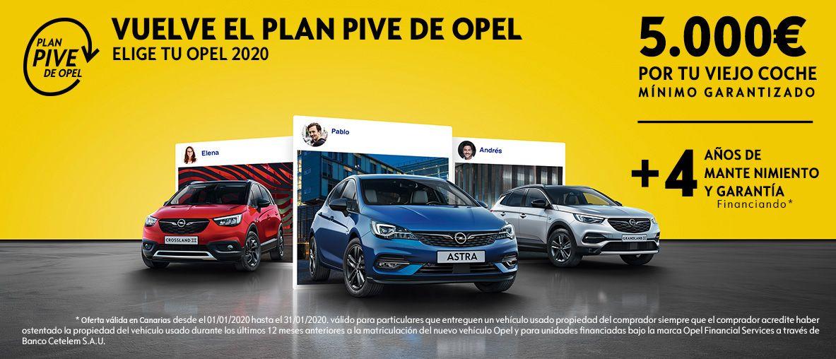Plan Pive de Opel. 5.000€ por tu viejo coche como mínimo garantizado !