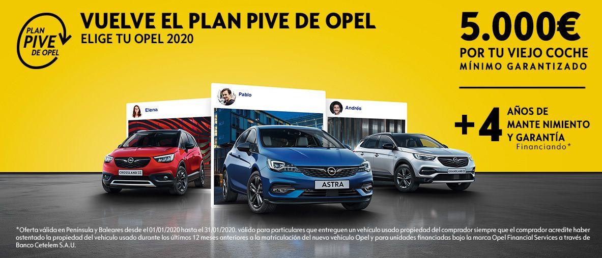 Plan Pive  de Opel. 5.000€ por tu viejo coche como mínimo garantizado!