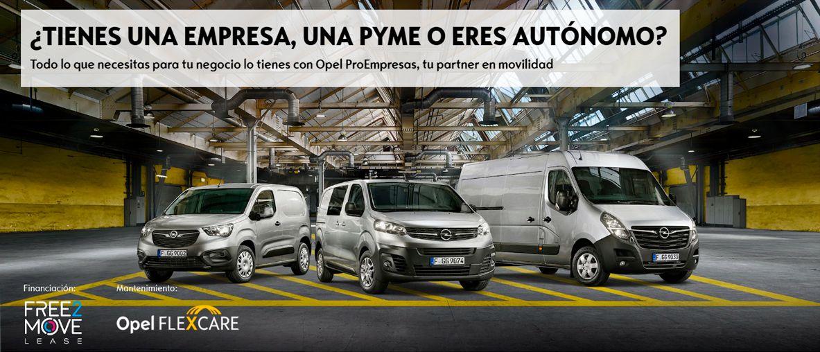 ¿Tienes una empresa, una pyme o eres autónomo? Opel ProEmpresas, lo que necesitas .