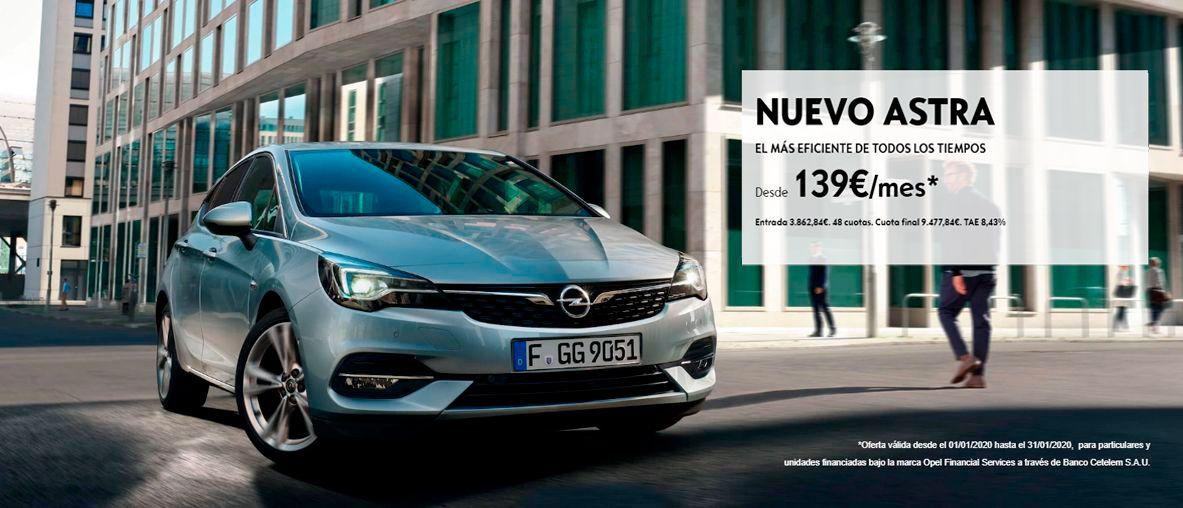 Plan Pive de Opel, Opel Astra desde 139€/mes.