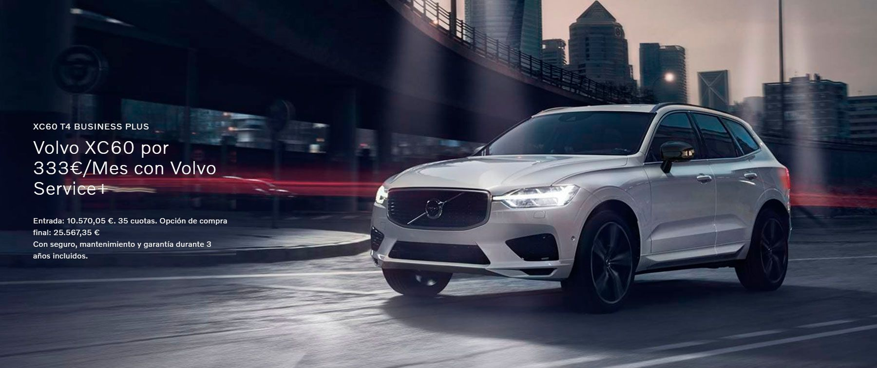 XC60 T4 Business Plus Por 333€/Mes con Service +