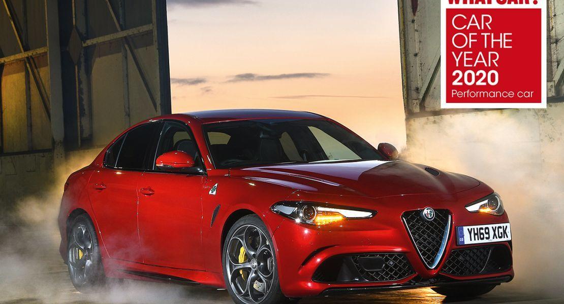"""Hat-trick para el Alfa Romeo Giulia Quadrifoglio en los premios """"Coche del Año 2020"""" de la revista """"What Car"""""""