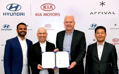 Hyundai y Kia invierten en Arrival