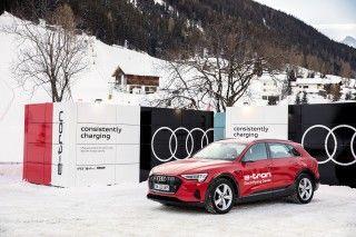 Audi proporciona soluciones de recarga y movilidad sostenible en el Foro Económico Mundial de Davos