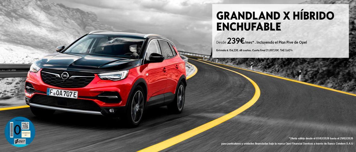 Grandland X híbrido enchufable, el nuevo SUV híbrido enchufable de Opel.