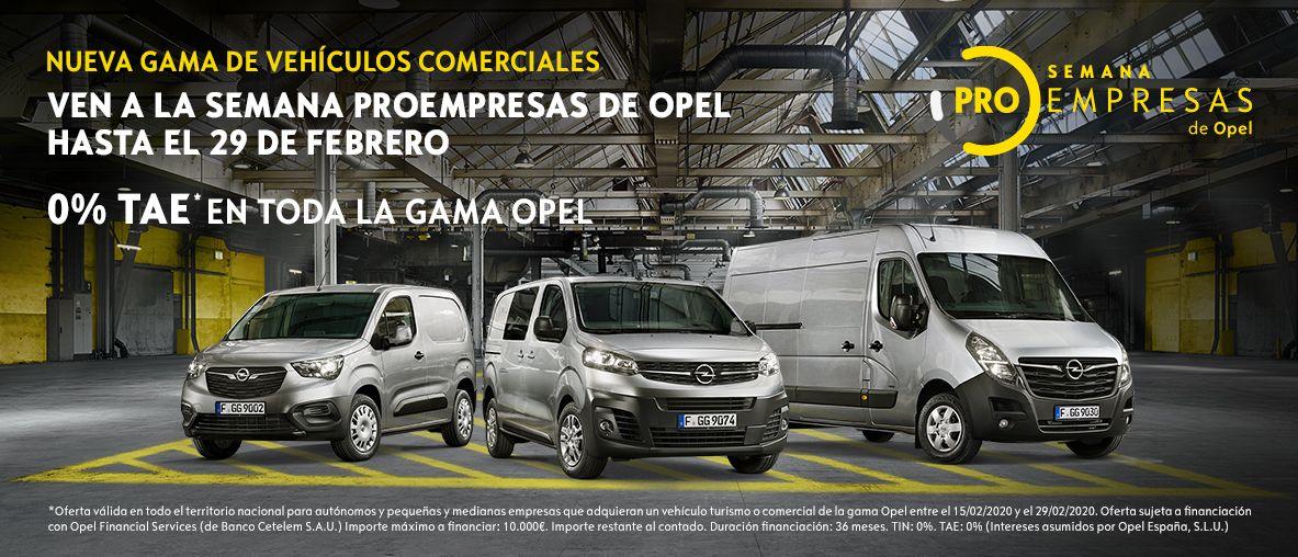 Semana ProEmpresas Opel - 0% TAE en toda la Gama Opel.