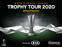 "EL ""TOUR DEL TROFEO DE LA UEFA EUROPA LEAGUE, CONDUCIDO POR KIA"" REGRESA EN 2020"