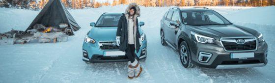 AVENTURA EN LAPONIA: los nuevos Subaru EcoHYBRID sobre hielo