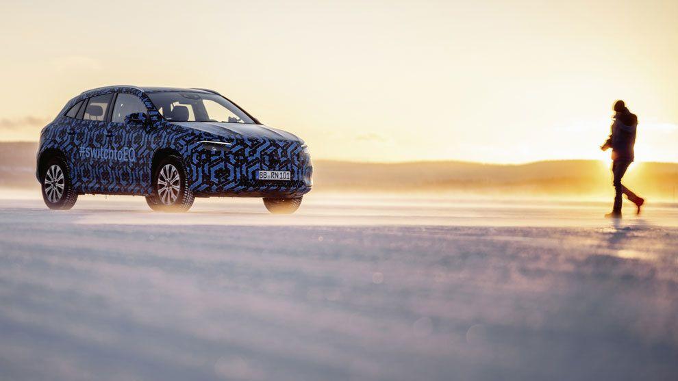 Mercedes EQA: frío extremo para probar el nuevo SUV eléctrico
